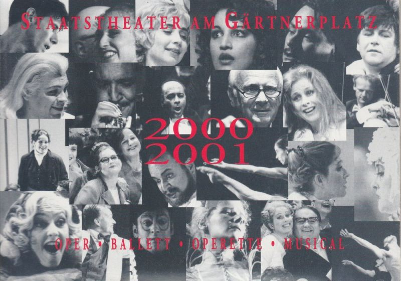 Staatstheater am Gärtnerplatz, Klaus Schultz, Jan Adamiak, Konrad Kuhn, Julia Fechner, Bettina Wind Programmheft Vorschau auf die Spielzeit 2000 / 2001
