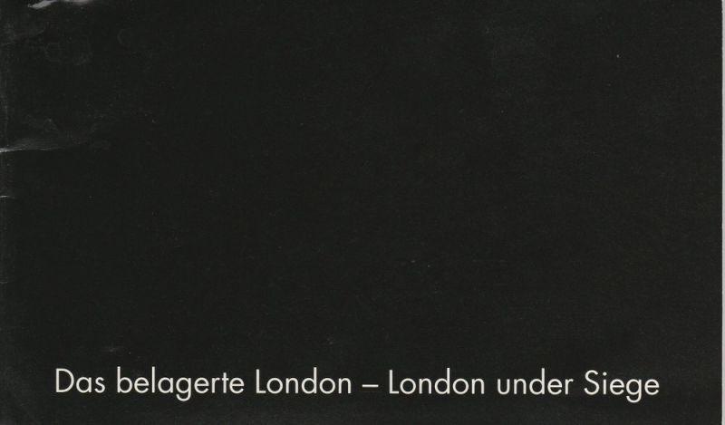 Niedersächsische Staatsoper Hannover, Hochschule für Musik und Theater, Hans-Peter Lehmann, Eva Gruhn Programmheft Uraufführung Das belagerte London von David Wilde. Premiere 31. Januar 1999 im Ballhof. Spielzeit 1998 / 99 Heft 6