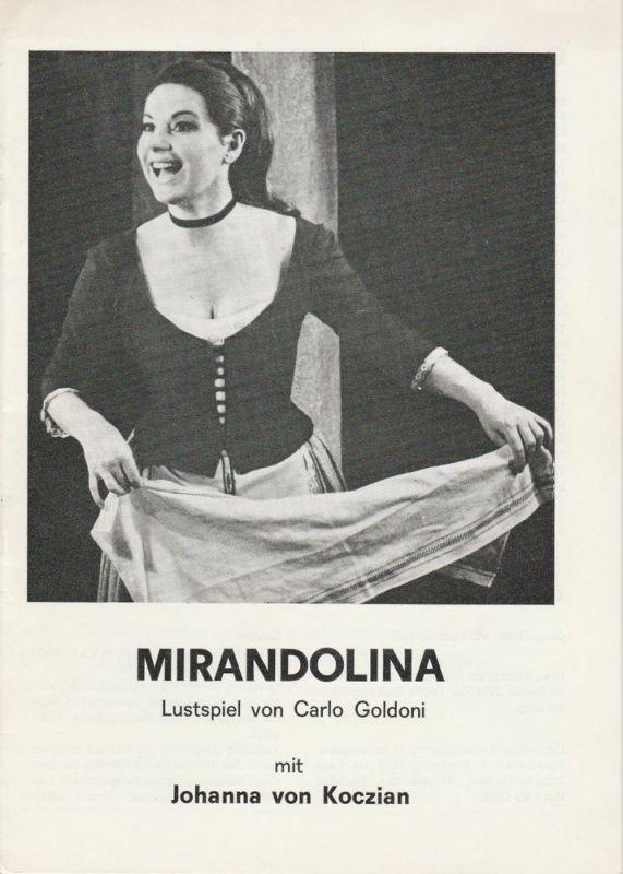 Schweizer Tournee-Theater Programmheft MIRANDOLINA. Lustspiel von Carlo Goldoni