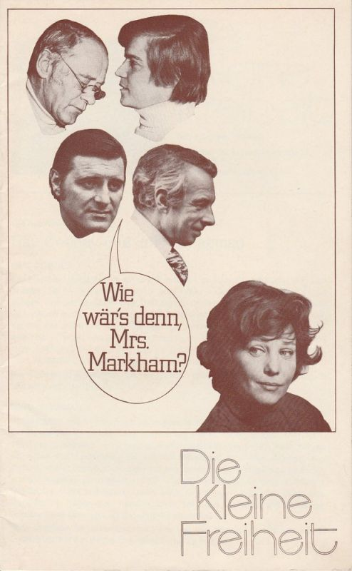 Die Kleine Freiheit, Trude Kolman Theater München, Rolf Kuhsiek Programmheft Wie wär´s denn, Mrs. Markham ? Premiere 8. März 1974