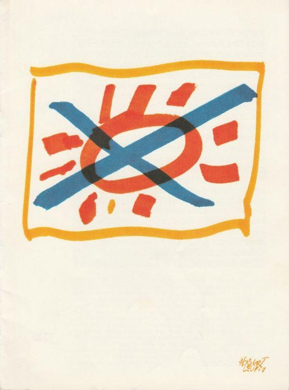 Die Schauspieltruppe Zürich, Maria Becker, Robert Freitag, Günther Fuhrmann Programmheft Wir sind noch einmal davongekommen Nr. 23 September 1973