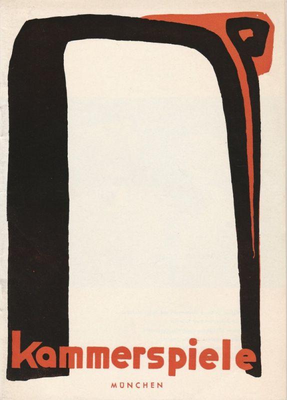 Münchner Kammerspiele, Hans Schweikart, Wolfgang Zimmermann, Stefan Meuschel, Hildegard Steinmetz ( Szenenfotos zu Der Nachfolger ) Programmheft DER ROTE HAHN Premiere 16. November 1962 Spielzeit 1962 / 63 Heft 3