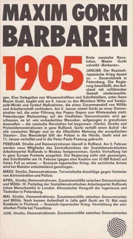 Deutsches Schauspielhaus in Hamburg, Ivan Nagel, Bernd Wilms, Rosemarie Clausen Programmheft Maxim Gorki: BARBAREN. Szenen einer Kreisstadt. Premiere 11. Oktober 1972