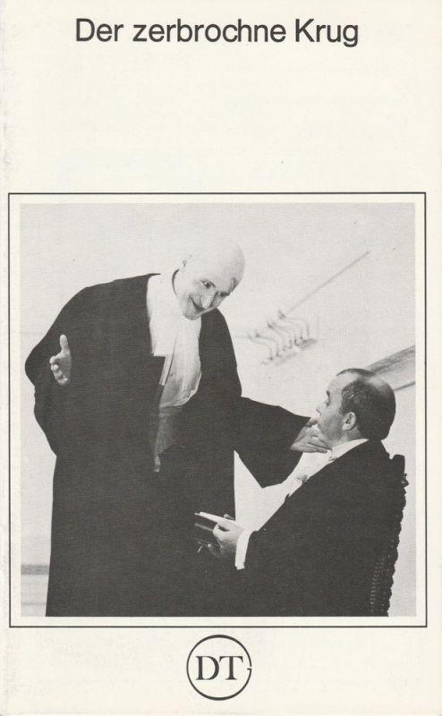 Deutsches Theater in Göttingen, Norbert Baensch Programmheft Der zerbrochne Krug. Lustspiel von Heinrich von Kleist. Spielzeit 1979 / 80 Heft 476