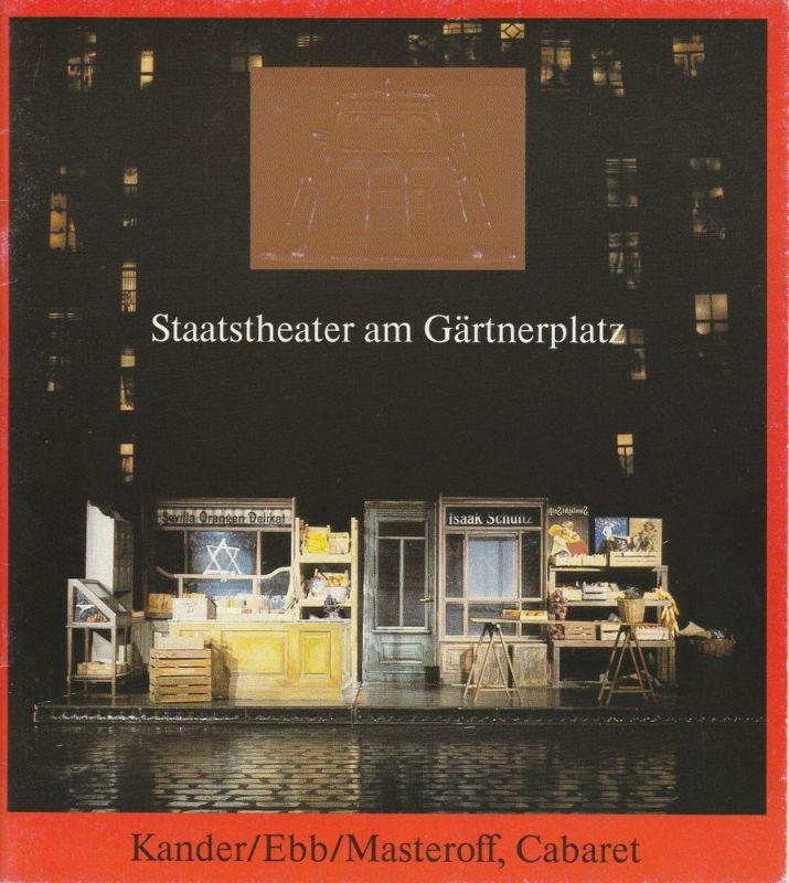 Staatstheater am Gärtnerplatz, Hellmuth Matiasek, Theater des Westens, Berlin Programmheft CABARET. Musical. 15. November 1988