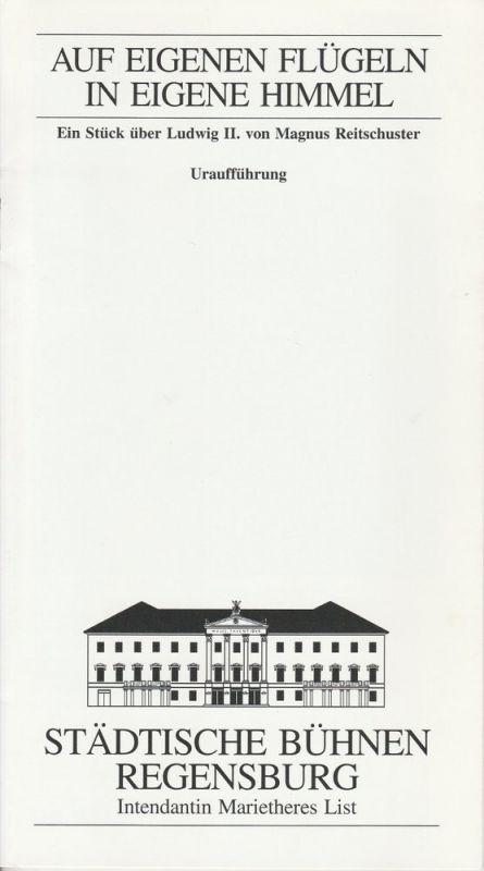 Städtische Bühnen Regensburg, Marietheres List, Christa-Renate Thutewohl Programmheft Uraufführung Auf eigenen Flügeln in eigene Himmel Premiere 18. April 1997