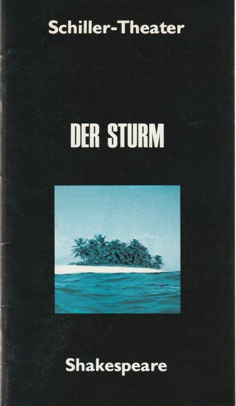 Schiller-Theater, Staatliche Schauspielbühnen Berlins, Hans Lietzau, Jürgen Fischer Programmheft William Shakespeare: Der Sturm. Spielzeit 1977 / 78 Heft 95