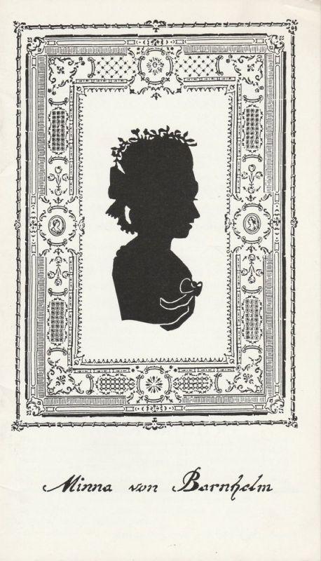 Städtebundtheater Hof, Reinhold Röttger, Andrea Hödebeck Programmheft Minna von Barnhelm. Lustspiel von Gotthold Ephraim Lessing. Premiere 5. März 1986