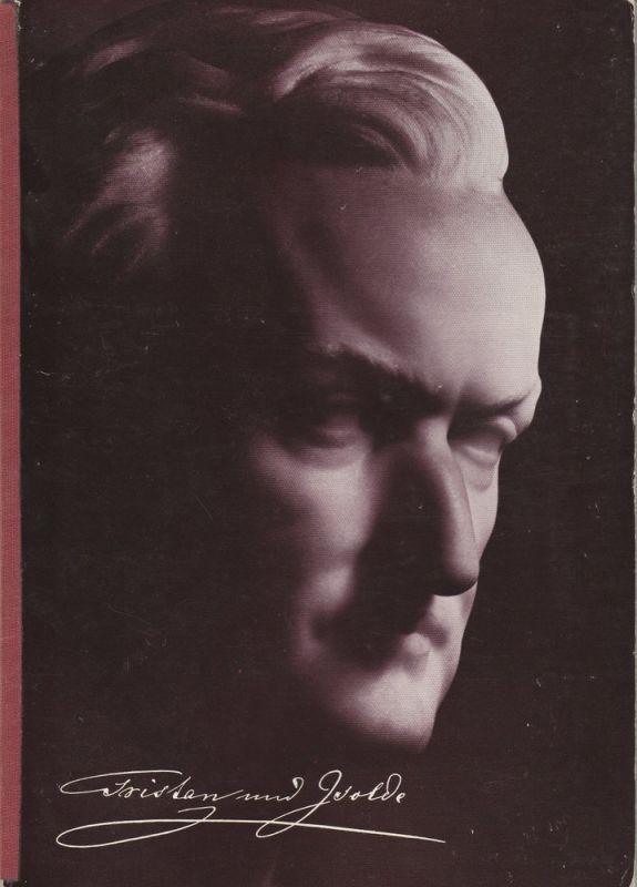 Bayreuther Festspiele, Wolfgang Wagner, Herbert Barth Programmheft I Richard Wagner: TRISTAN UND ISOLDE Bayreuther Festspiele 1974