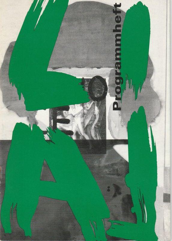Theater Affekt, Yvonne Gebauer, Thomas Jonigk, Tom Till Programmheft LILA ein Singspiel von Johann Wolfgang Goethe Oktober 1995