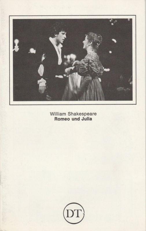Deutsches Theater in Göttingen, Norbert Baensch Programmheft William Shakespeare: Romeo und Julia. Spielzeit 1981 / 82 Heft 496
