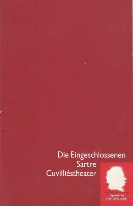 Bayerisches Staatsschauspiel, Eberhard Witt, Thomas Potzger, Erika Fernschild ( Fotografie ) Programmheft Jean-Paul Sartre: Die Eingeschlossenen. Premiere 29. April 1994 Cuvilliestheater Spielzeit 1993 / 94 Nr. 12