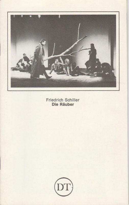 Deutsches Theater in Göttingen, Norbert Baensch Programmheft DIE RÄUBER. Schauspiel von Friedrich Schiller. Spielzeit 1982 / 83 Heft 514