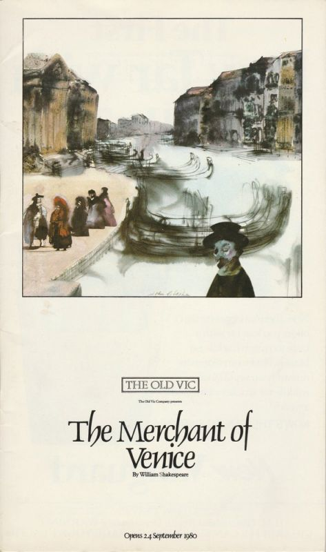 The Old Vic, Timothy West, Peter O'Toole Programmheft The Merchant of Venice by William Shakespeare. Opens 24. September 1980