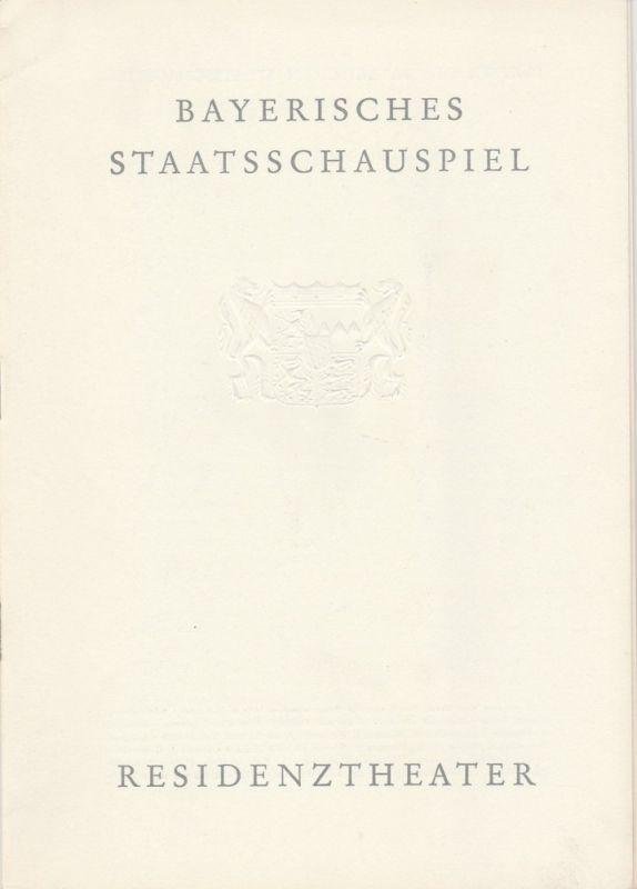 Bayerisches Staatsschauspiel, Helmut Henrichs, Gerhard Reuter Programmheft Neuinszenierung MACBETH. Tragödie von William Shakespeare. Premiere 12. Mai 1964 Residenztheater