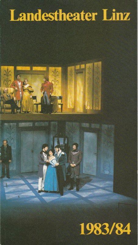Landestheater Linz, Alfred Stögmüller, Friedrich Wagner, Ulrich Scherzer, Evelyn Schreiner Programmheft Landestheater Linz 1983 / 84 Spielzeitheft