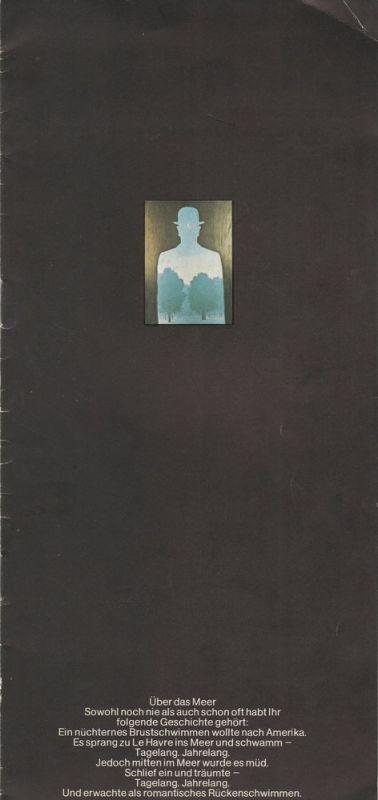 Schaubühne am Halleschen Ufer, Dieter Sturm Programmheft Geschichten aus dem Wiener Wald. Volksstück von Ödön von Horvath. Premiere 18. August 1972