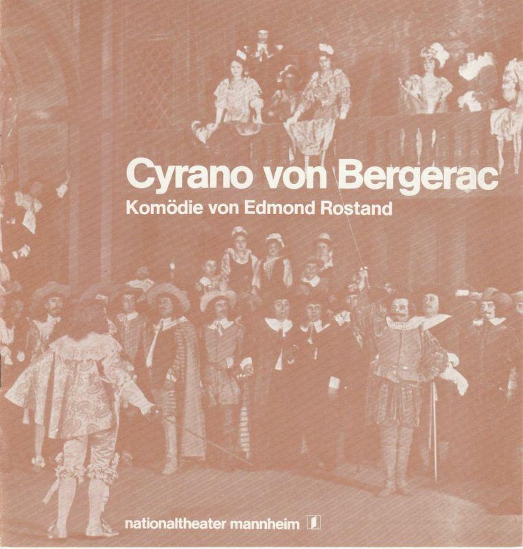 Nationaltheater Mannheim, Arnold Petersen, Peter Ritz Programmheft Neuinszenierung Cyrano von Bergerac Komödie von Edmond Rostand Premiere 2. Dezember 1978 Spielzeit 1978 / 79 Nr. 6