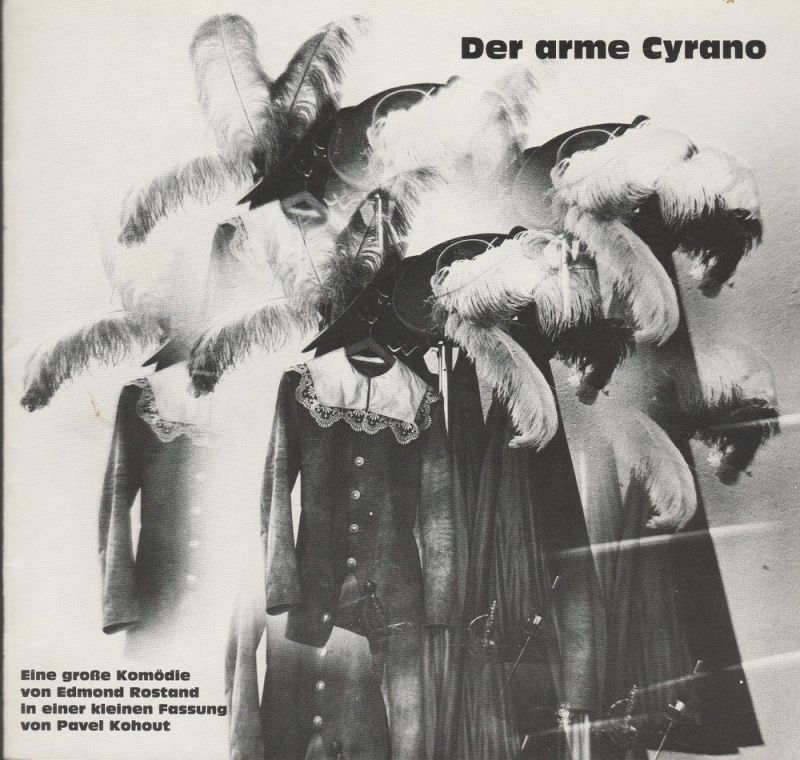 Landesbühne Niedersachsen Nord, Stadttheater Wilhelmshaven, Georg Immelmann, Karl Gabriel von Karais Programmheft DER ARME CYRANO von Pavel Kohout Premiere 29. Oktober 1983