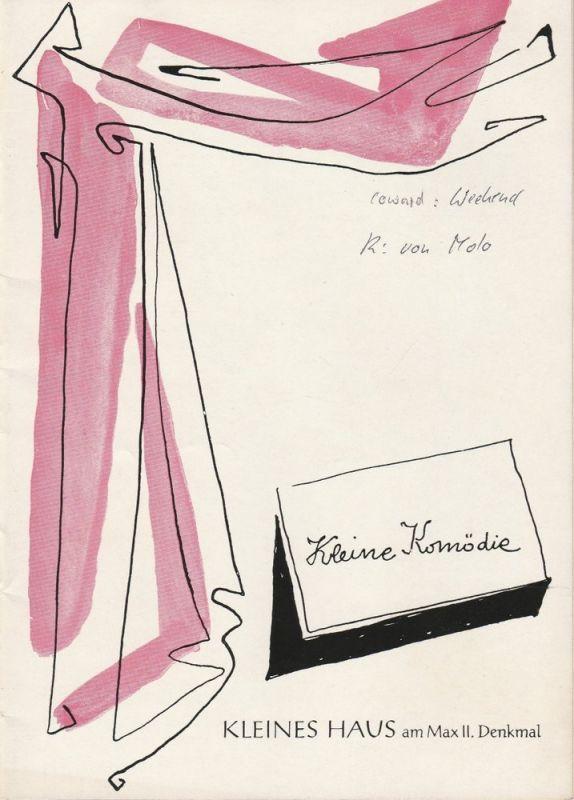 Kleine Komödie, Kleines Haus am Max II. Denkmal, Gerhard Metzner, Programmheft WEEKEND. Lustspiel von Noel Coward Spielzeit 1962 / 63 Mai / Juni 1963 Heft 4 Ausgabe 2