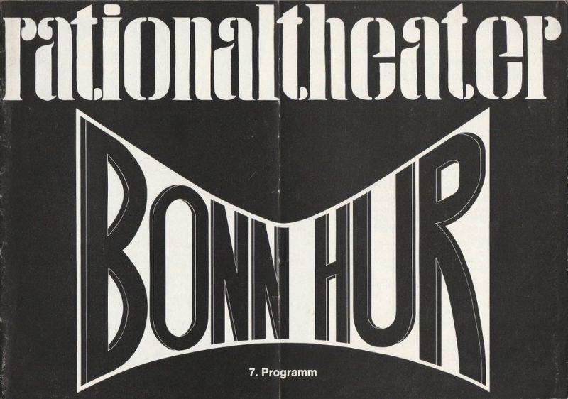 Das Münchner Rationaltheater, Reiner Uthoff Programmheft Bonn Hur. Ein politisches Kabarett 7. Programm