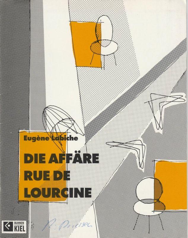 Bühnen der Landeshauptstadt Kiel, Peter Dannenberg, Kirstin Petersen Programmheft Eugene Labiche: Die Affäre Rue de Lourcine. Premiere 18. Juni 1992 Spielzeit 1991 / 92