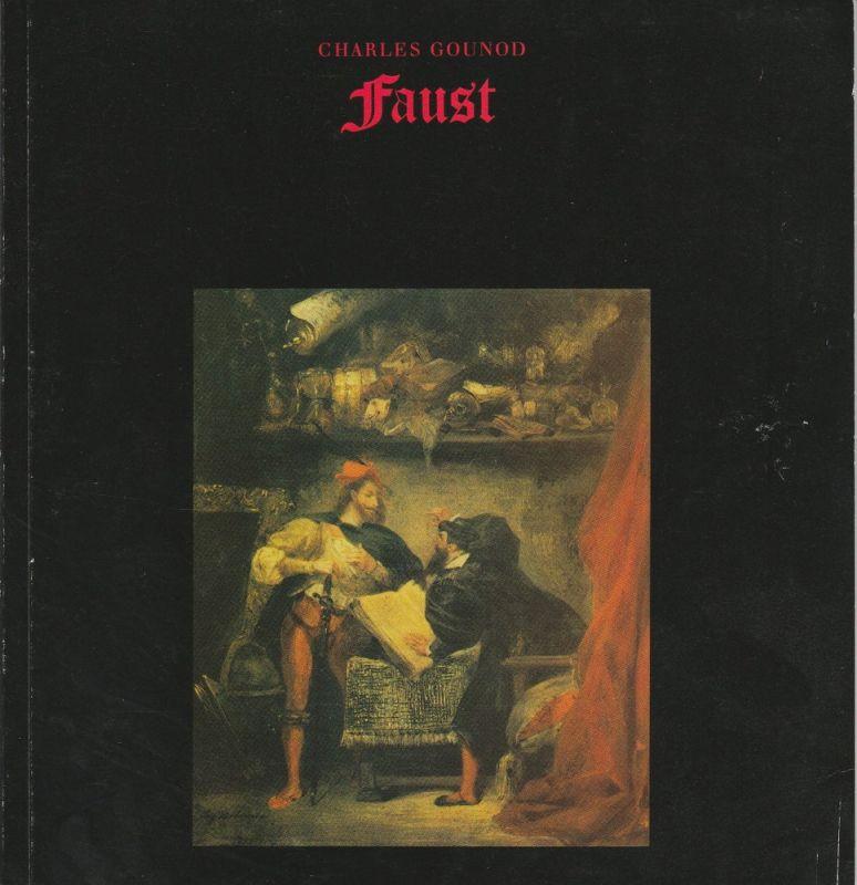 Hamburgische Staatsoper, Cordes Annedore Programmheft zur Premiere FAUST Oper von Charles Gounod am 13. Oktober 1985