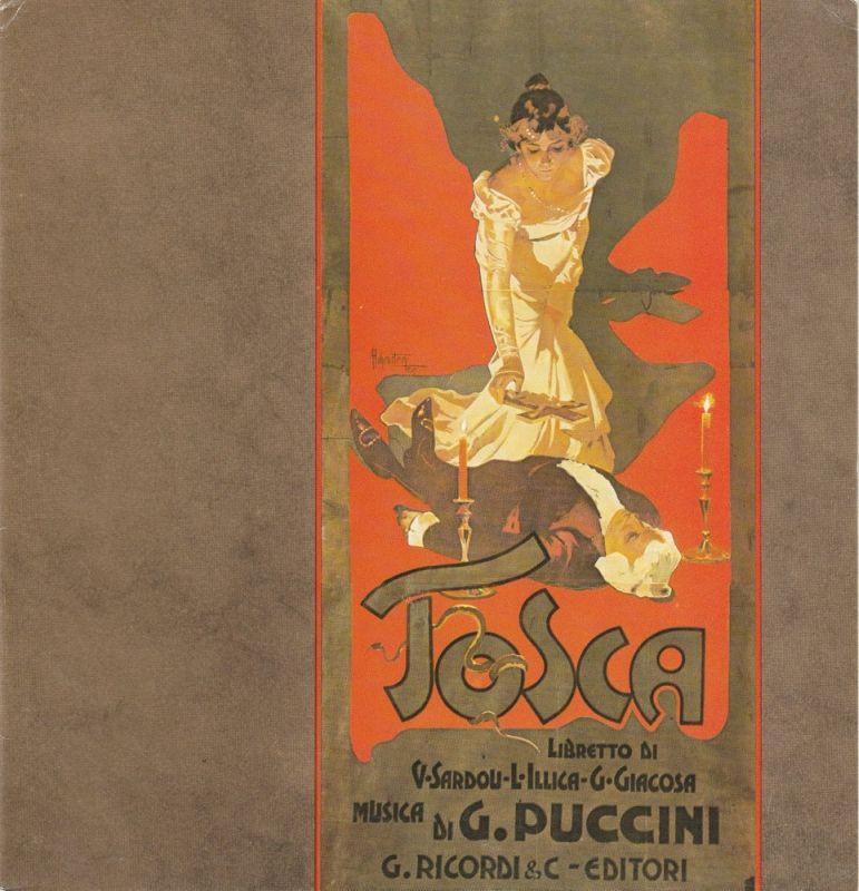 Hamburgische Staatsoper, Christoph von Dohnanyi, Peter Dannenberg Programmheft TOSCA. Oper von Giacomo Puccini signiert Nello Santi