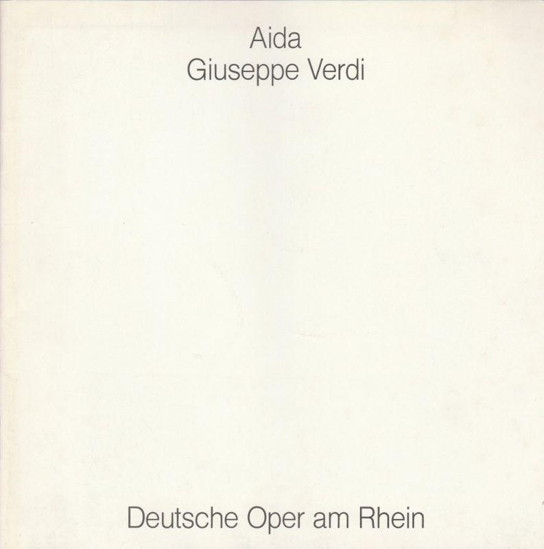 Deutsche Oper am Rhein, Kurt Horres, Günther W. Weißenborn, Gerda Zientek Programmheft AIDA Oper von Giuseppe Verdi Premiere 29. September 1989 Opernhaus Düsseldorf