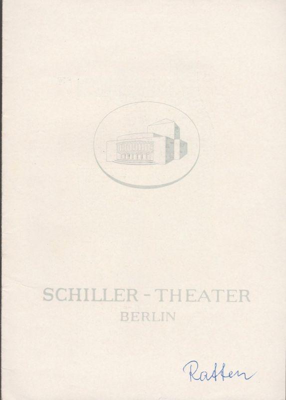 Schiller Theater Berlin, Boleslaw Barlog, Albert Beßler Programmheft DIE RATTEN. Berliner Tragikomödie von Gerhart Hauptmann Spielzeit 1962 / 63 Heft 127