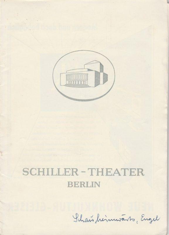 Schiller Theater Berlin, Boleslaw Barlog, Albert Beßler Programmheft Schau heimwärts, Engel Spielzeit 1958 / 59 Heft 77
