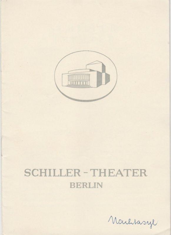 Schiller Theater Berlin, Boleslaw Barlog, Albert Beßler Programmheft Nachtasyl von Maxim Gorki Spielzeit 1958 / 59 Heft 73