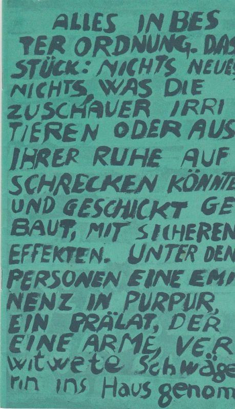 Freie Volksbühne Berlin, Kurt Hübner, Burkhard Mauer, Simone Reber, Heike Wiehle Programmheft Sechs Personen suchen einen Autor von Luigi Pirandello. Premiere 21. März 1981. Spielzeit 1981 Heft 3