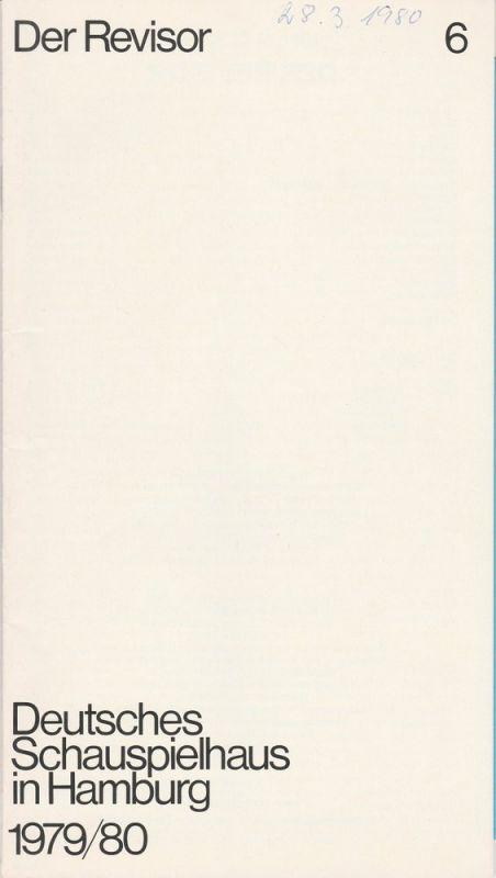 Deutsches Schauspielhaus in Hamburg, Günter König, Rolf Mares Programmheft Nikolaj W. Gogol DER REVISOR. Premiere 24. Februar 1980