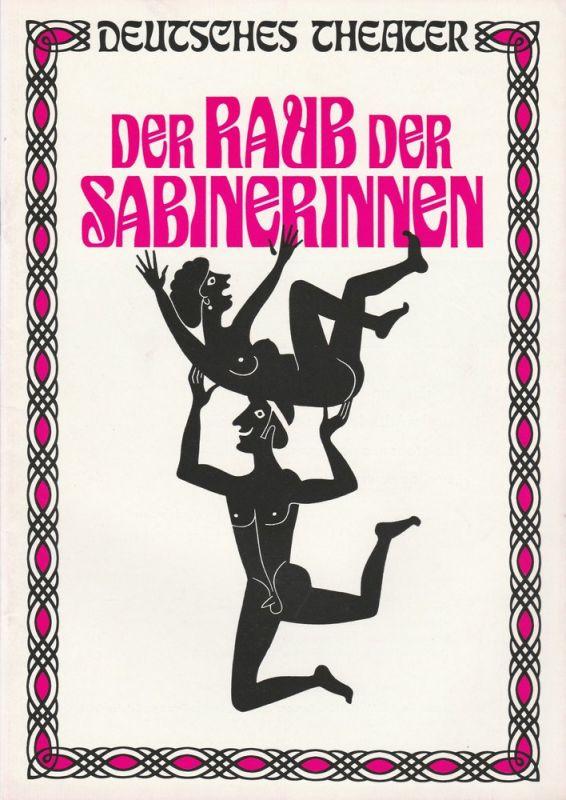 Deutsches Theater München, Neues Theater München, Theatergemeinde München Programmheft Der Raub der Sabinerinnen. Schwank von Franz und Paul Schönthan Premiere 19. Juli 1973