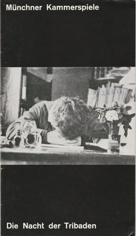 Münchner Kammerspiele, Hans-Reinhard Müller, Ernst Wendt, Wolfgang Zimmermann Programmheft Per Olov Enquist: Die Nacht der Tribaden. Premiere 6. Februar 1977 Schauspielhaus Spielzeit 1976 / 77 Heft 6