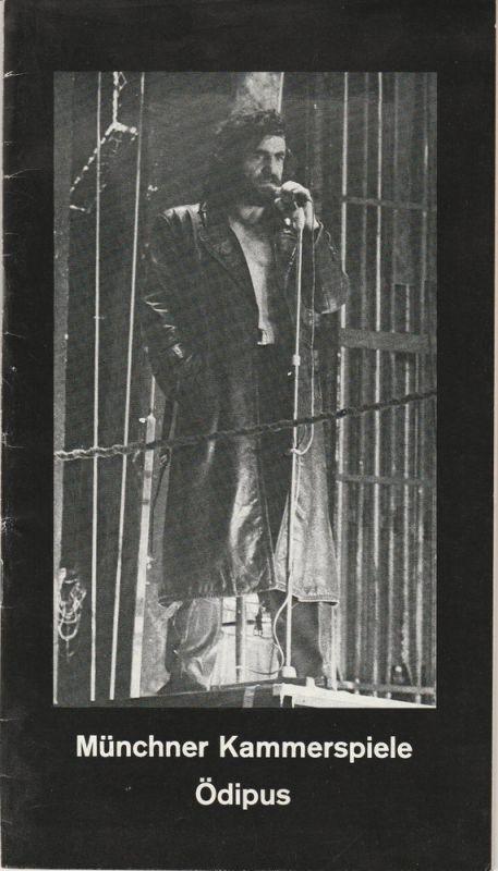 Münchner Kammerspiele, Hans-Reinhard Müller, Wolfgang Zimmermann Programmheft Sophokles: ÖDIPUS. Premiere 11. Dezember 1977 Spielzeit 1977 / 78 Heft 3