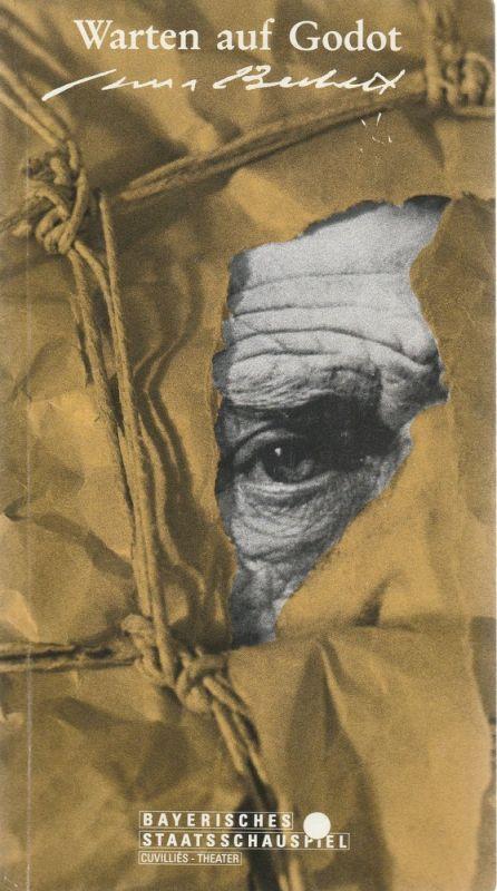 Bayerisches Staatsschauspiel, Cuvillies-Theater, Günther Beelitz, Oliver Reese, Bertram Dippel Programmheft Warten auf Godot. Stück von Samuel Beckett. Premiere 26. März 1991 Cuvillies-Theater Spielzeit 1990 / 91 Heft 61