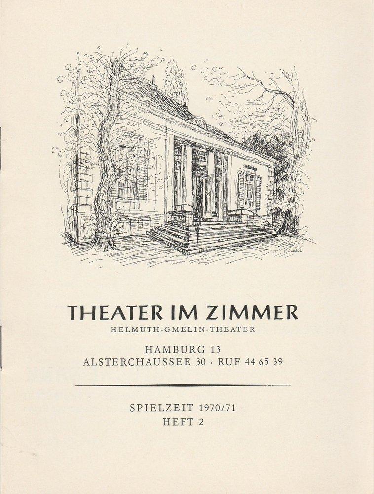 Theater im Zimmer, Eckard Knuth, Klaus Merx Programmheft Harold Pinter: Die Geburtstagsfeier Spielzeit 1970 / 71 Heft 2 September / Oktober 1970