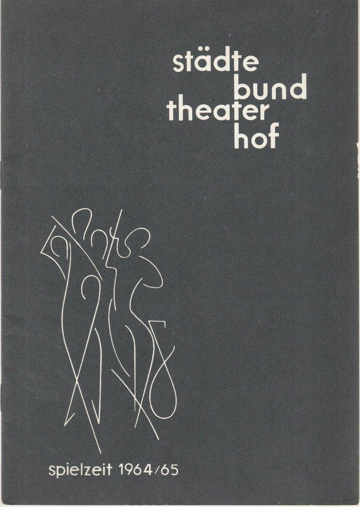 Städtebundtheater Hof, Hannes Keppler, Jochen Weber-Unger Programmheft Giacomo Puccini: Madame Butterfly Spielzeit 1965 / 65 Heft 4