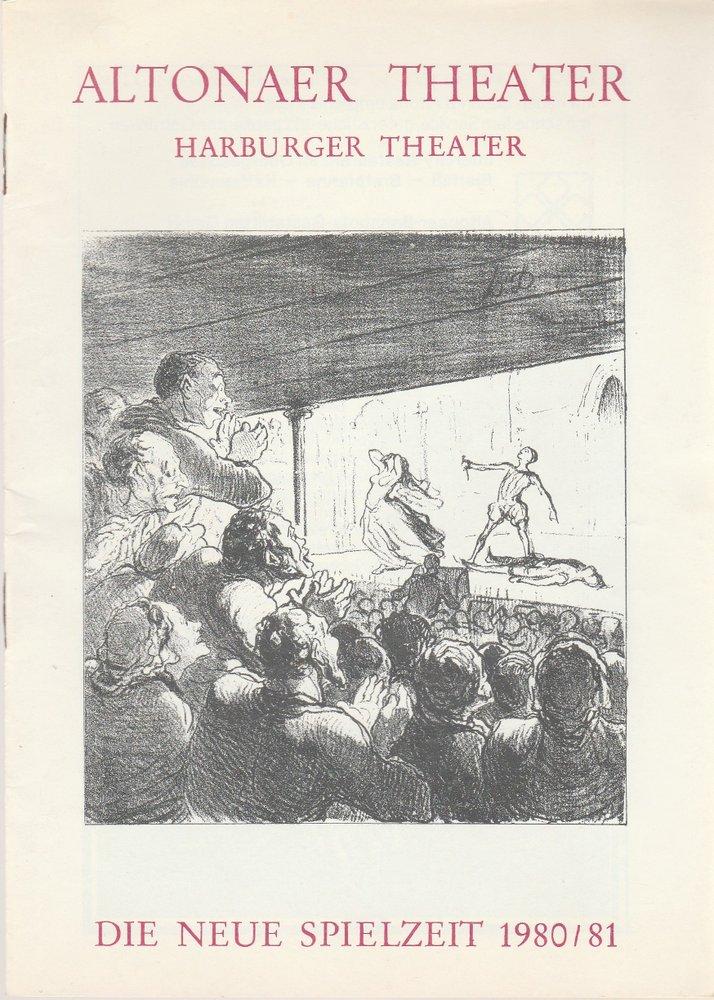 Altonaer Theater, Harburger Theater, Hans Fitze, Wilhelm Allgayer, Günther Riebold, Nora Seibert, Jutta Ungelenk-Stamp Die neue Spielzeit 1980 / 81 Spielzeitheft