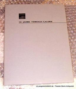 BBK, Torhaus Galerie 7 Raum - Installationen. Ausstellung zum 10jährigen Jubiläum der Torhaus-Galerie des BBK 12. September - 10. Oktober 1993. 10 Jahre Torhaus - Galerie