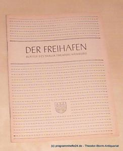 Thalia Theater Hamburg, Maertens Willy Der Freihafen. Blätter des Thalia-Theaters Hamburg. Heft 7 Spielzeit 1949-50. Das kleine Hofkonzert