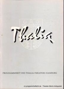 Dambek Albert, Kayser Conrad, Maertens Willy Thalia. 116. Spielzeit 1959 / 60 Heft 8 Programmheft des Thalia-Theaters Hamburg