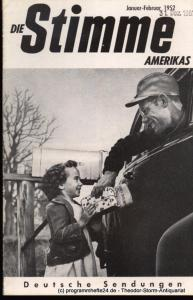 Die Stimme Amerikas Programmheft Die Stimme Amerikas. Deutsche Sendungen Juli-August 1952