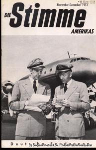 Die Stimme Amerikas Programmheft Die Stimme Amerikas. Deutsche Sendungen September-Oktober 1952