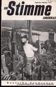 Die Stimme Amerikas Programmheft Die Stimme Amerikas. Deutsche Sendungen September-Oktober 1951