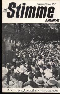 Die Stimme Amerikas Programmheft Die Stimme Amerikas. Deutsche Sendungen November-Dezember 1951