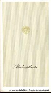 Akademietheater. Burgtheater Wien, Lothar Knessl Programmheft Nora oder Ein Puppenheim. Schauspiel von Henrik Ibsen. Premiere 15. Dezember 1971. Akademietheater Saison 1971 / 72 Heft 4