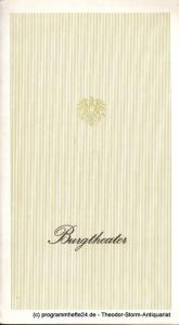 Burgtheater Wien, Knessl Lothar Programmheft Nur Ruhe ! Posse mit Gesang von Johann Nestroy. Premiere 30. Dezember 1972. Burgtheater Saison 1972 / 73 Heft 4